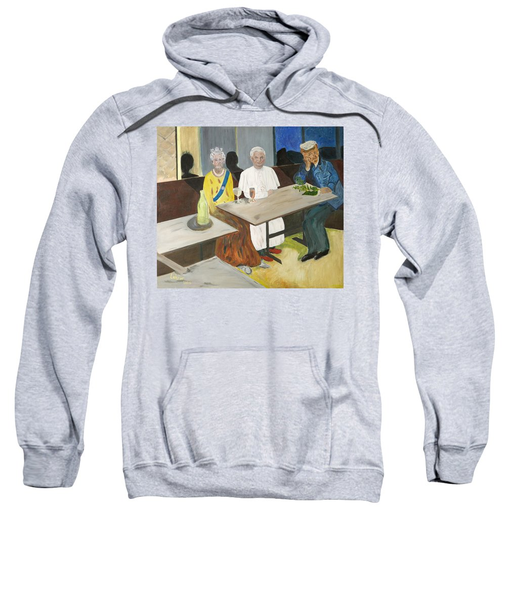 Pub Sweatshirt featuring the painting In The Pub by Avi Lehrer