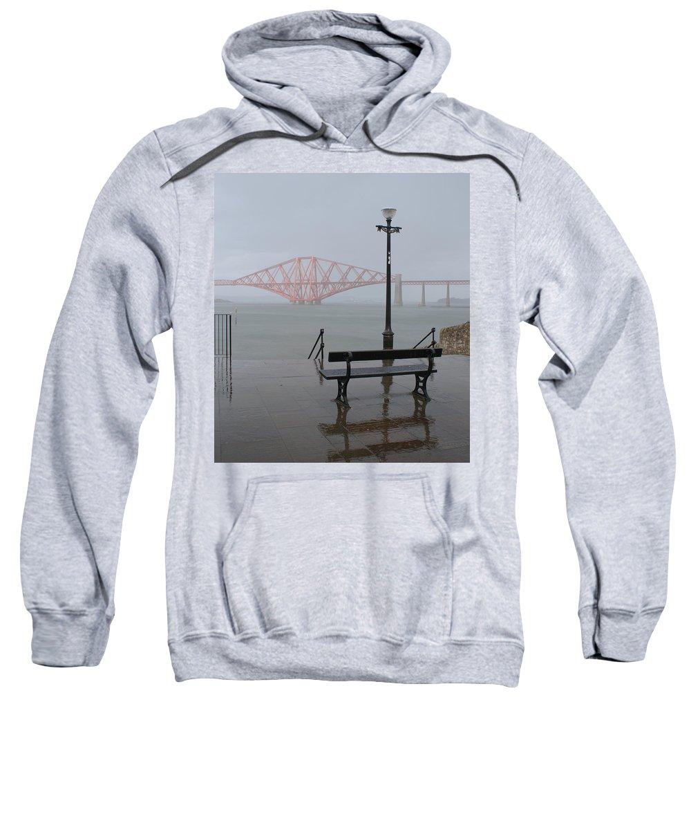 Forth Rail Bridge Sweatshirt featuring the photograph In The Rain by Elena Perelman
