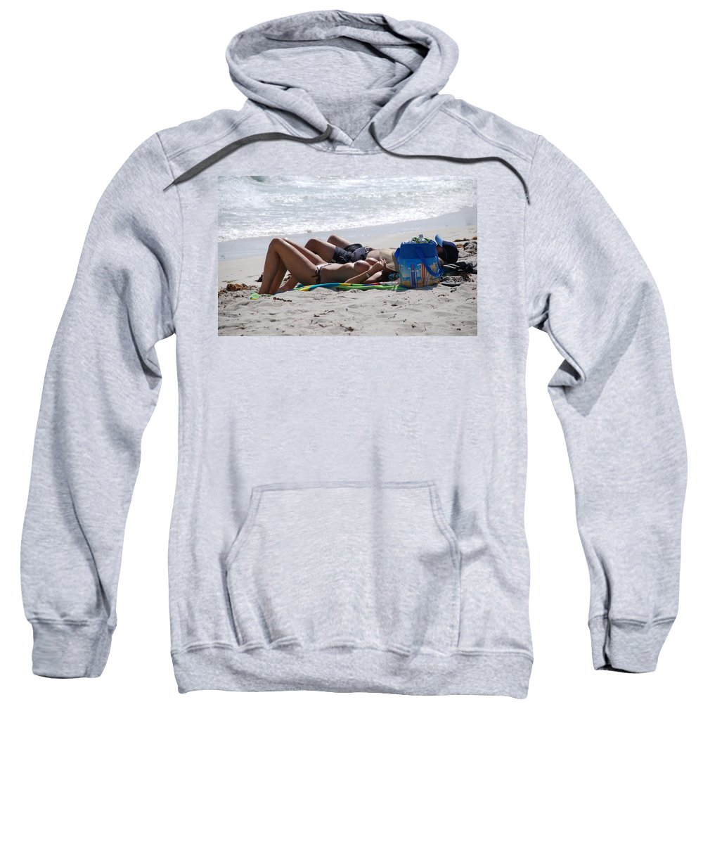 Nude Sweatshirt featuring the photograph In The Sand At Paradise Beach by Rob Hans