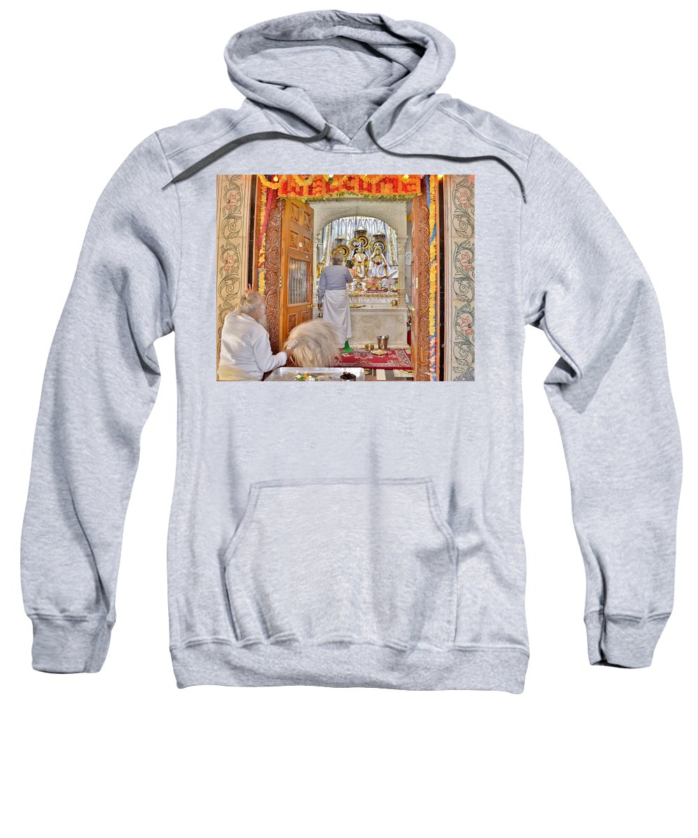 Temple Sweatshirt featuring the photograph In The Temple Door by Kim Bemis