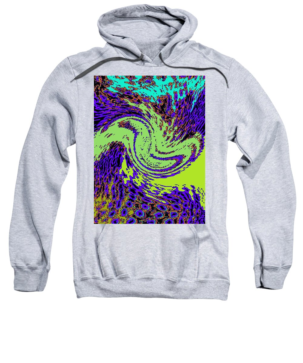 Coral Reefs Sweatshirt featuring the digital art In Transition by Will Borden