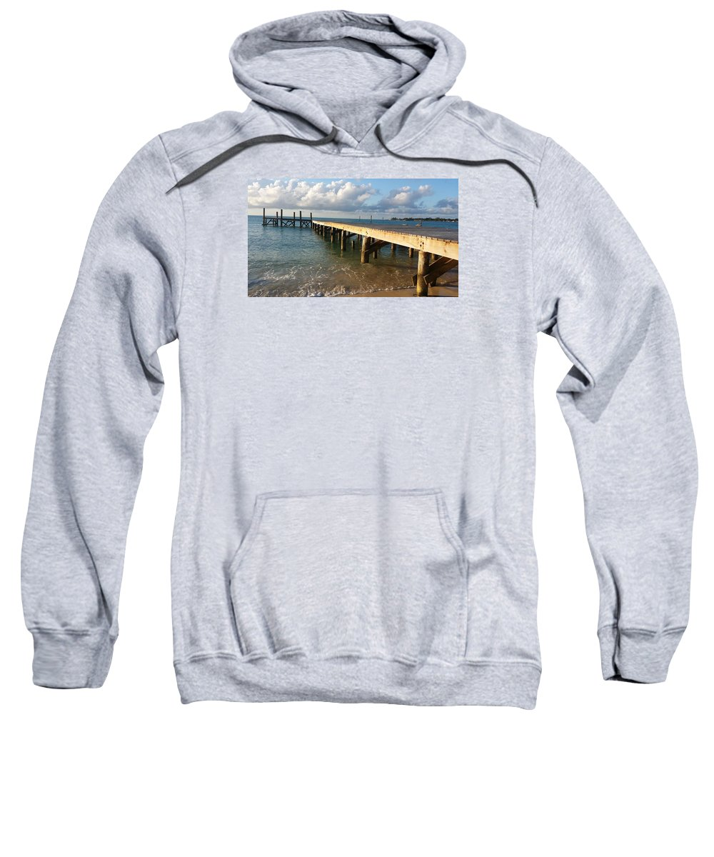 Sea Sweatshirt featuring the photograph In With The Tide by Kayla Powell