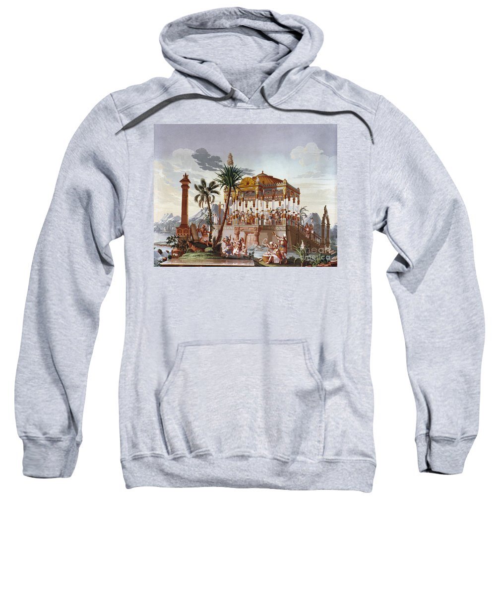 American Indian Sweatshirt featuring the photograph Inca Native Indians by Granger