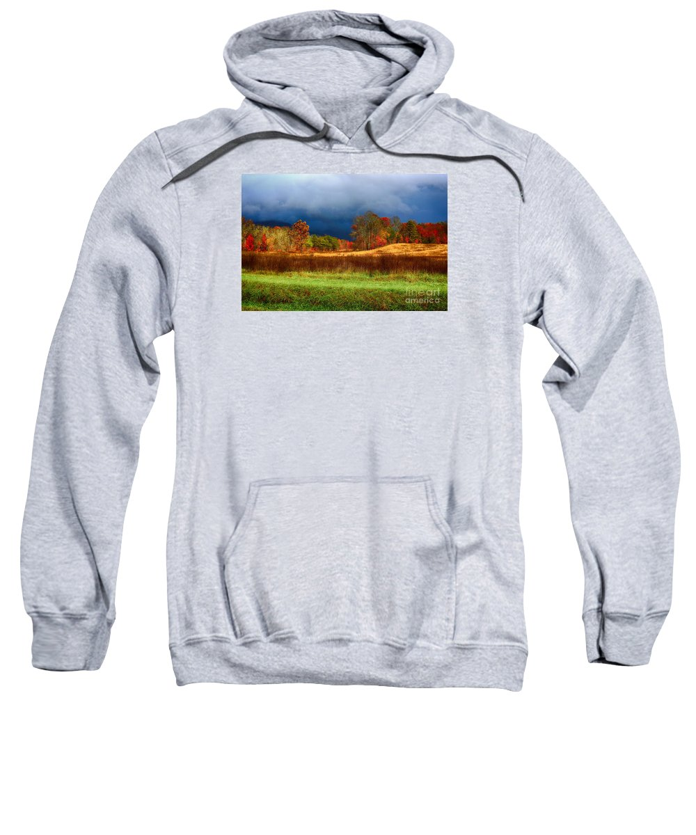 Landscape Sweatshirt featuring the photograph Incoming Storm by Geraldine DeBoer