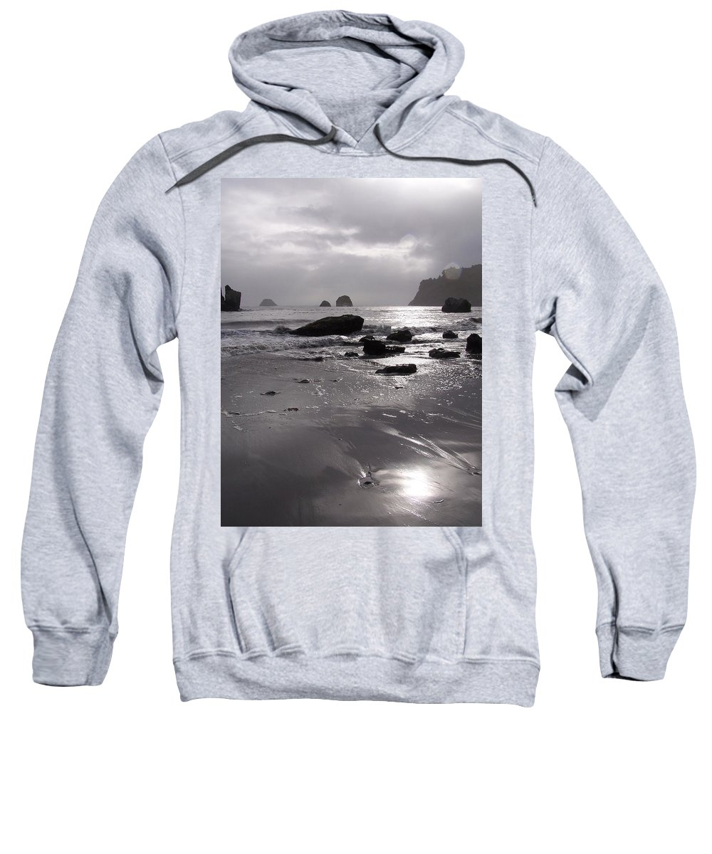 Beach Sweatshirt featuring the photograph Indian Beach by Gale Cochran-Smith