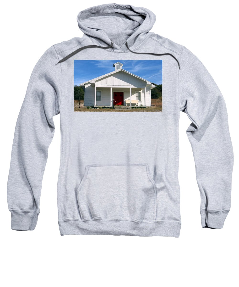 Cemetery Sweatshirt featuring the photograph Indian Gap Baptist by Amy Hosp