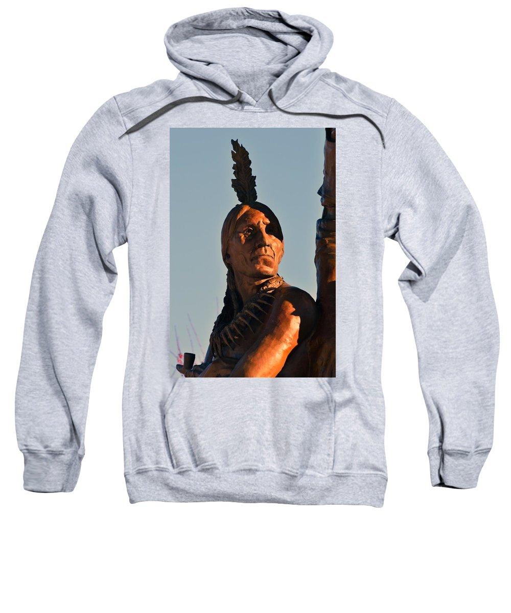 St. Joseph Sweatshirt featuring the photograph Indian Statue by Kim Blaylock