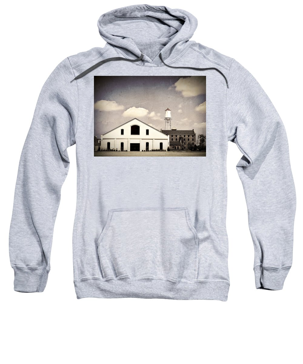 Indiana Sweatshirt featuring the photograph Indiana Warehouse by Amber Flowers
