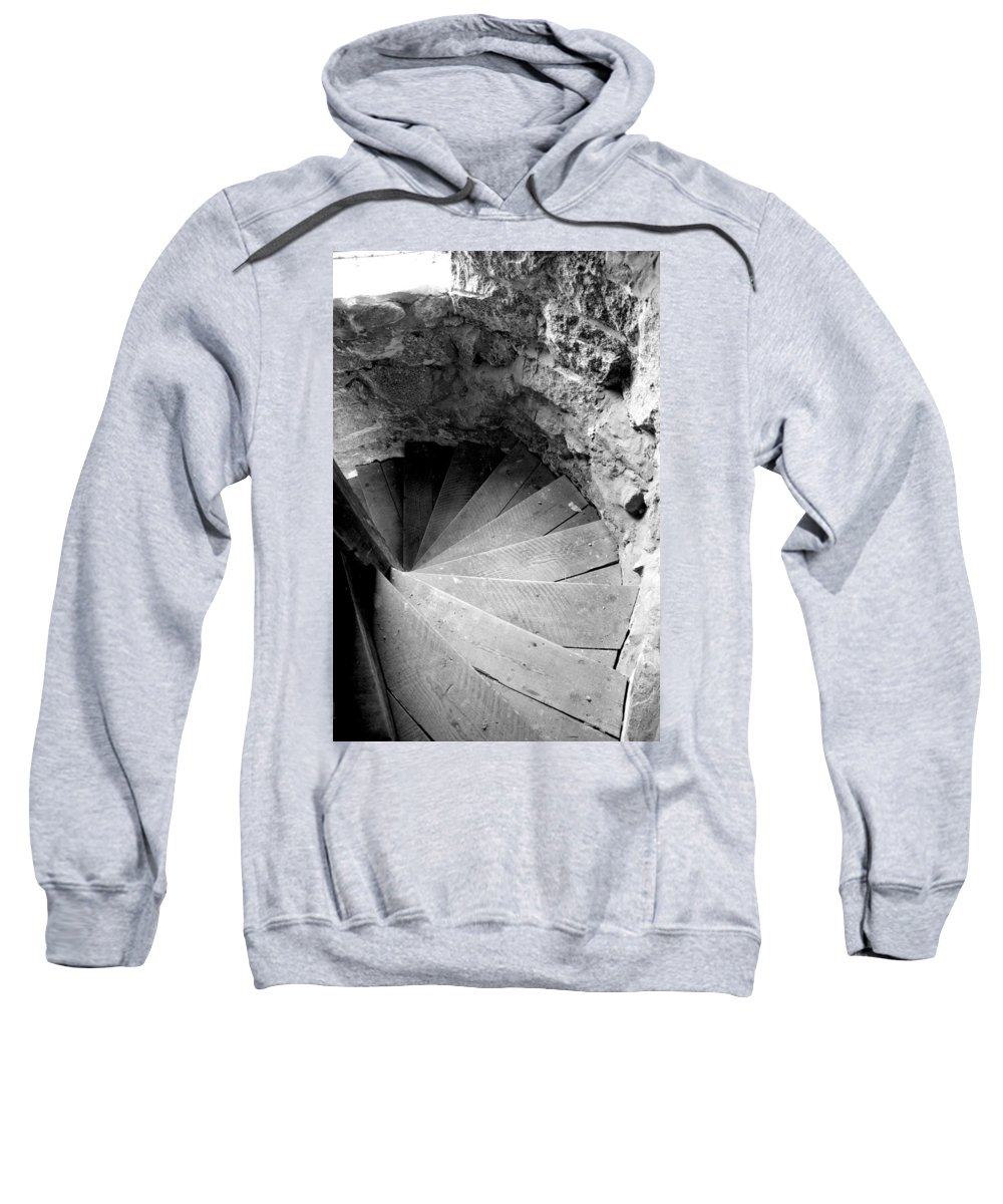 Stairs Sweatshirt featuring the photograph Indoor Spiral by Greg Fortier