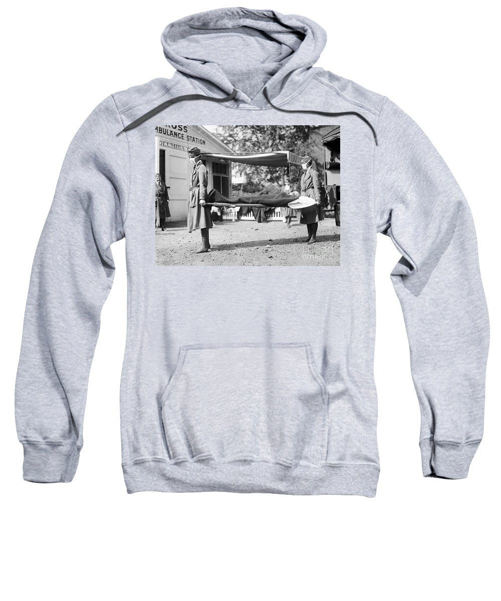 1918 Sweatshirt featuring the photograph Influenza Epidemic, 1918 by Granger