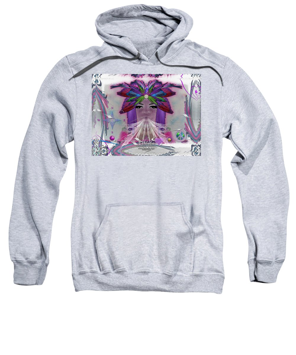 Art Sweatshirt featuring the digital art Inhaling Exhaling Peace by Barbara Tristan