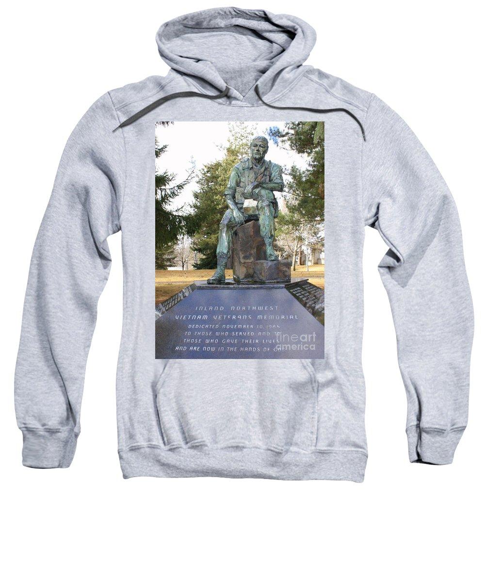 Vietnam Memorial Sweatshirt featuring the photograph Inland Northwest Vietnam Veterans Memorial by Carol Groenen