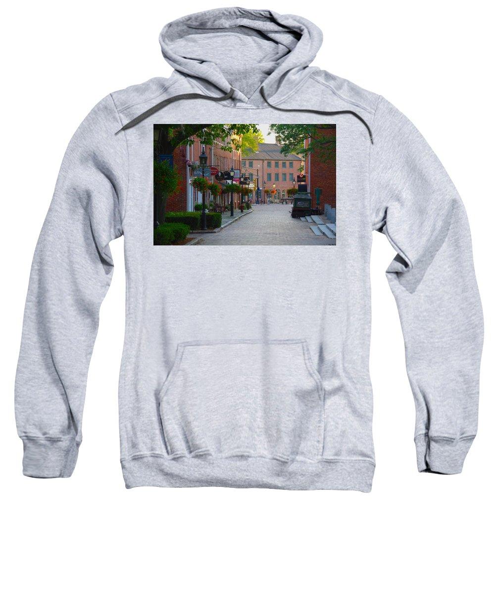 Newburyport Sweatshirt featuring the photograph Inn Street by Philip Derrico