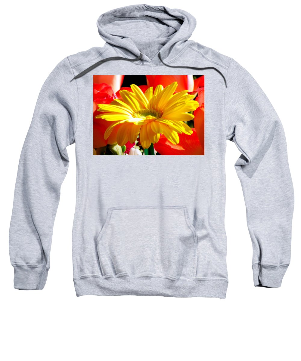 Floral Sweatshirt featuring the photograph Inner Glow by Karen Wiles