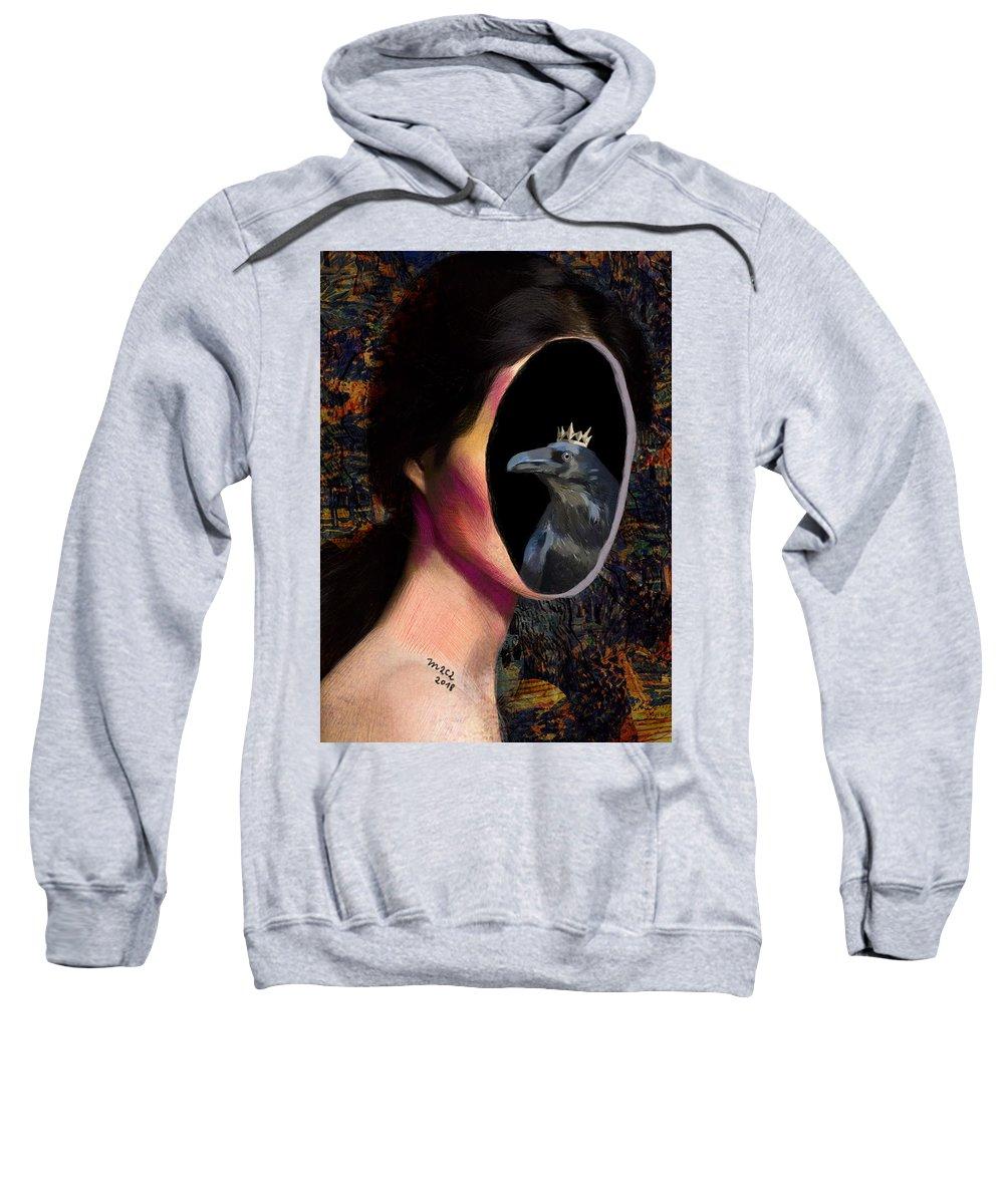Woman Sweatshirt featuring the painting Inner Spirit 643 by Maciej Mackiewicz