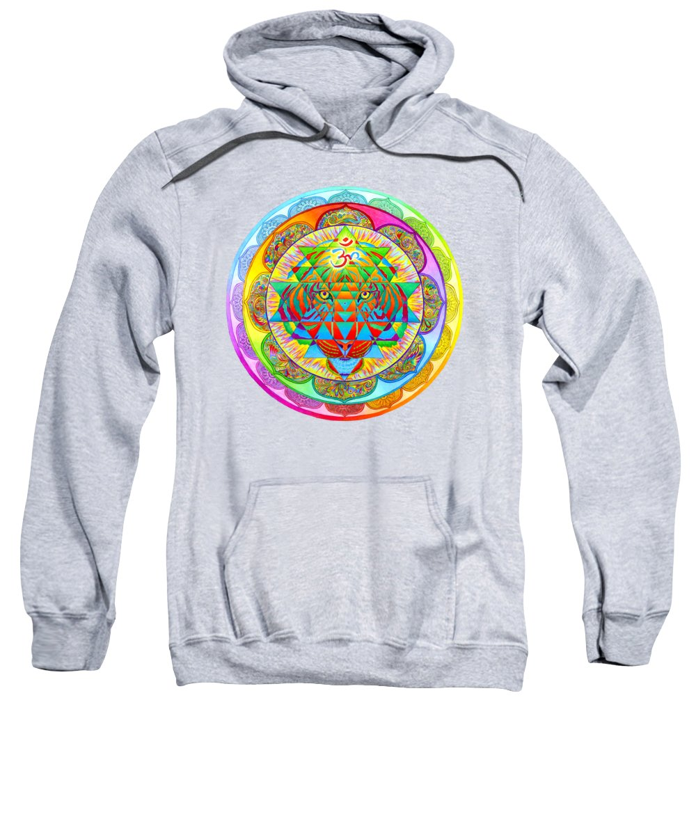 Psychedelic Sweatshirt featuring the drawing Inner Strength by Rebecca Wang