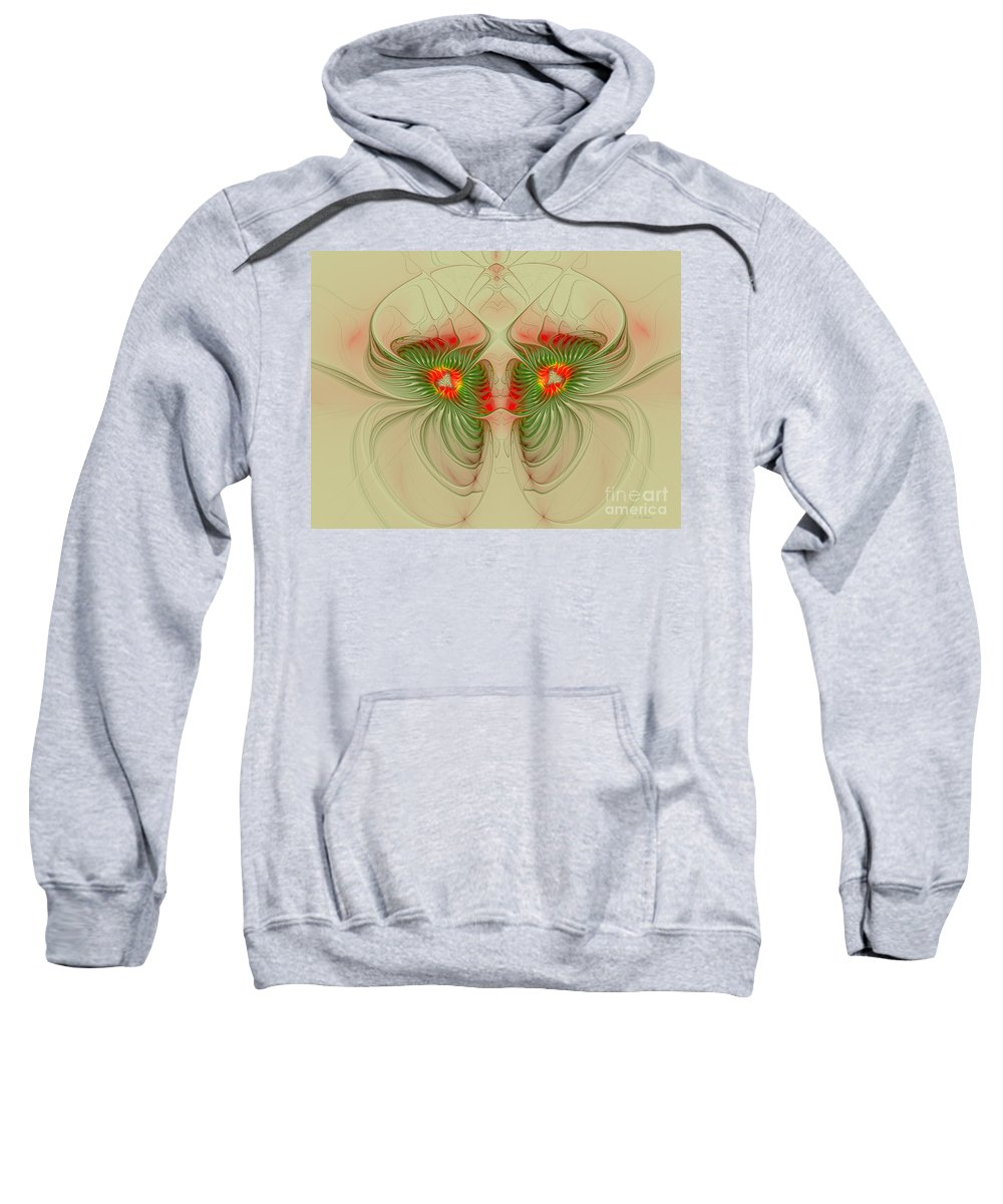 Digital Sweatshirt featuring the digital art Inner Vision by Deborah Benoit