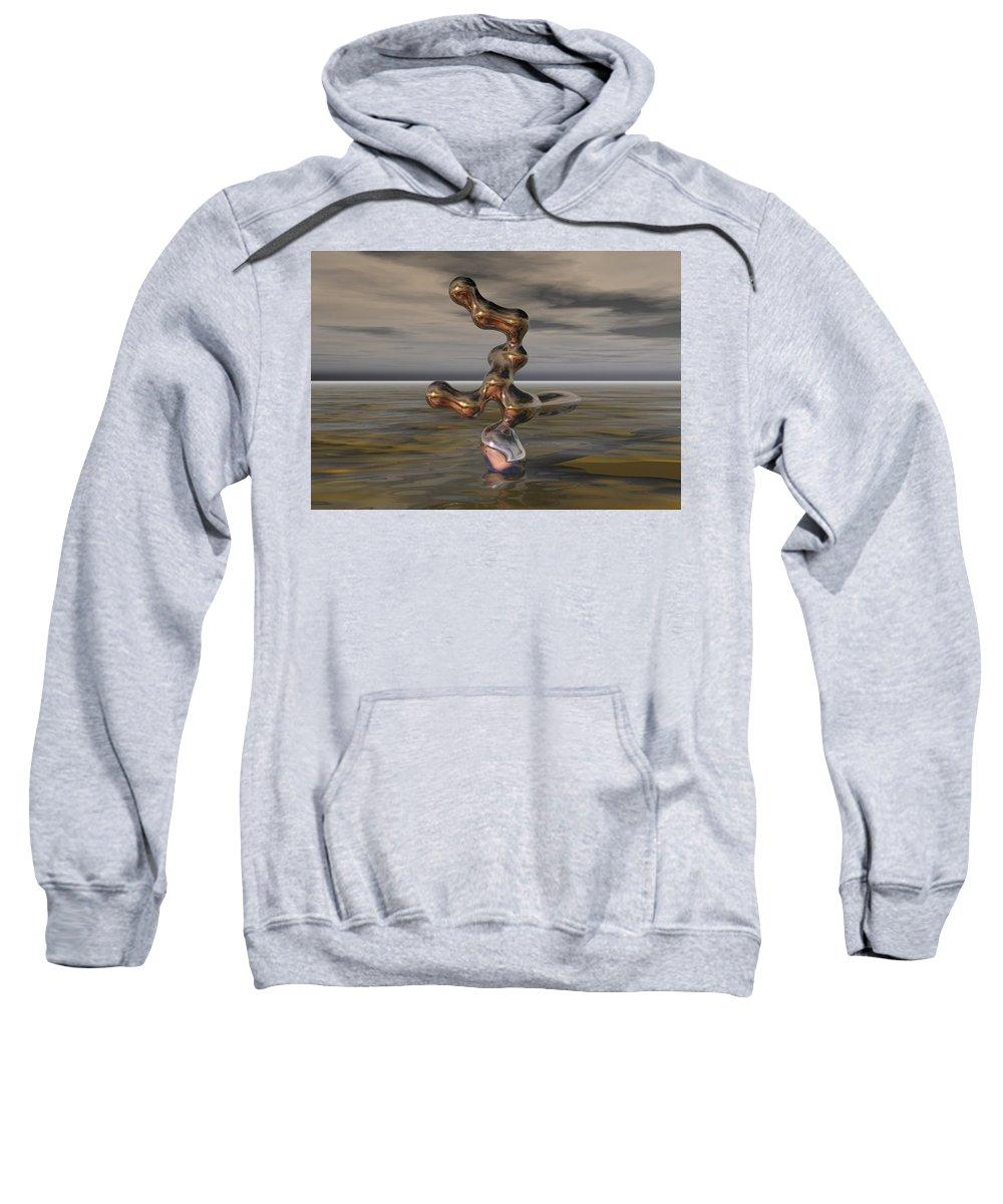 Digital Painting Sweatshirt featuring the digital art Innovation The Leap Of Imagination by David Lane