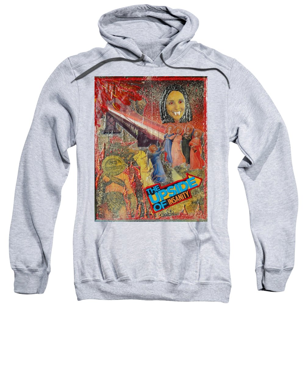 Angles Sweatshirt featuring the painting Insainity by Lisa Piper