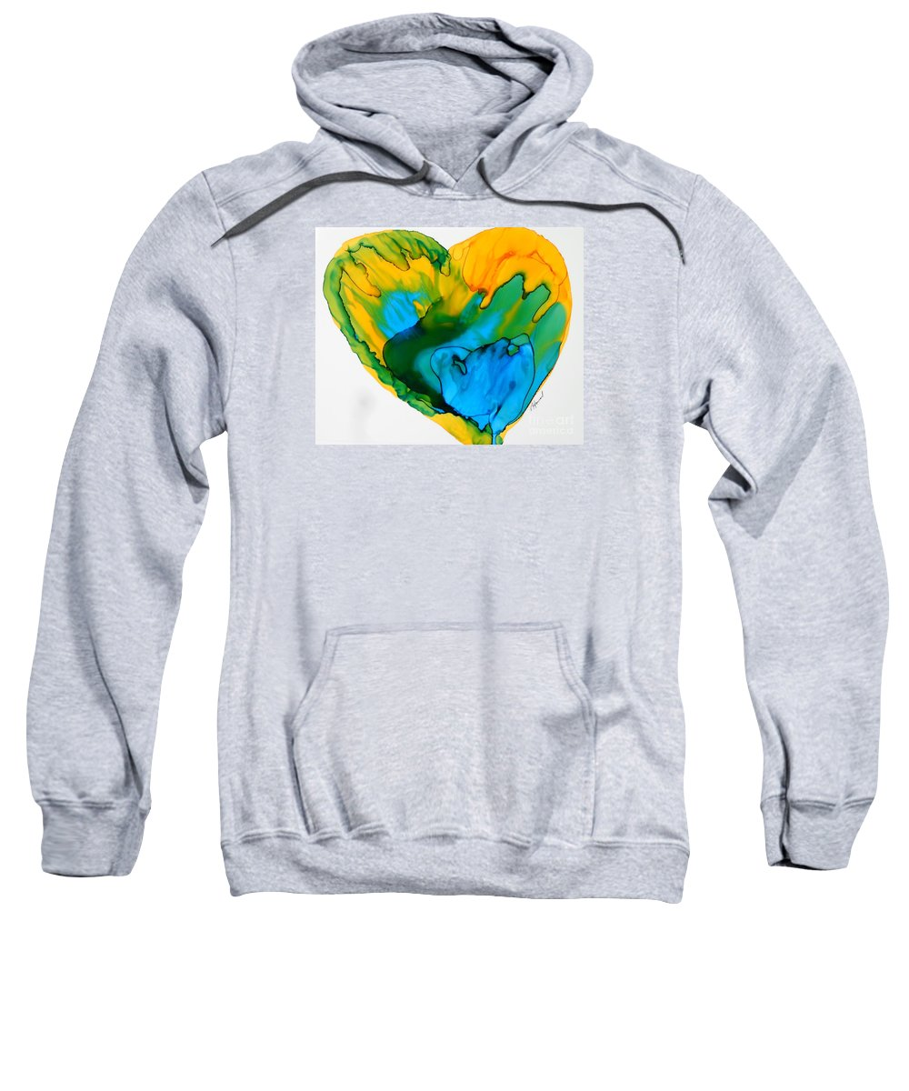 Alcohol Ink Sweatshirt featuring the painting Inside My Heart 3 by Vicki Housel