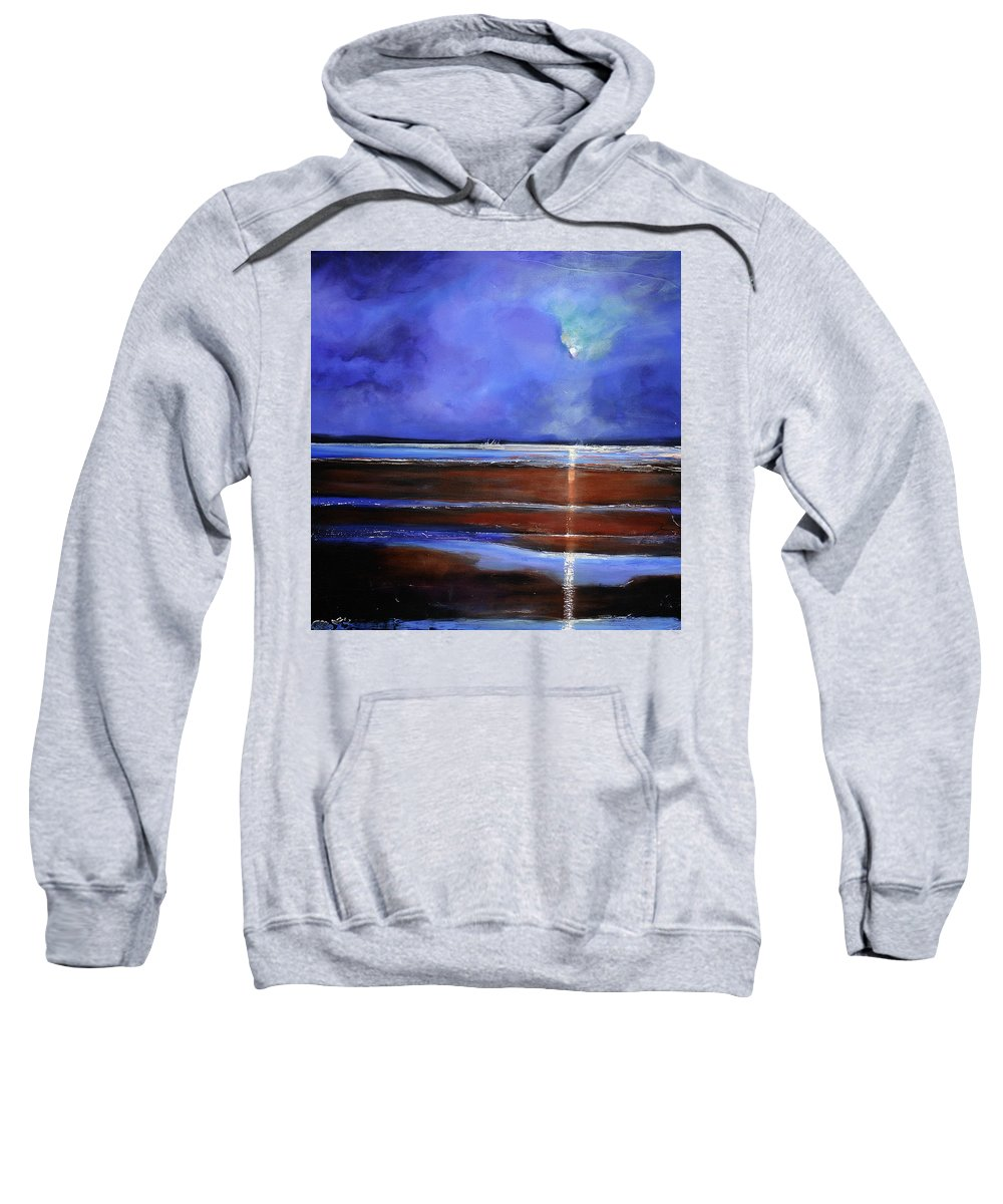 Beach Sweatshirt featuring the painting Inspiration Beach by Toni Grote