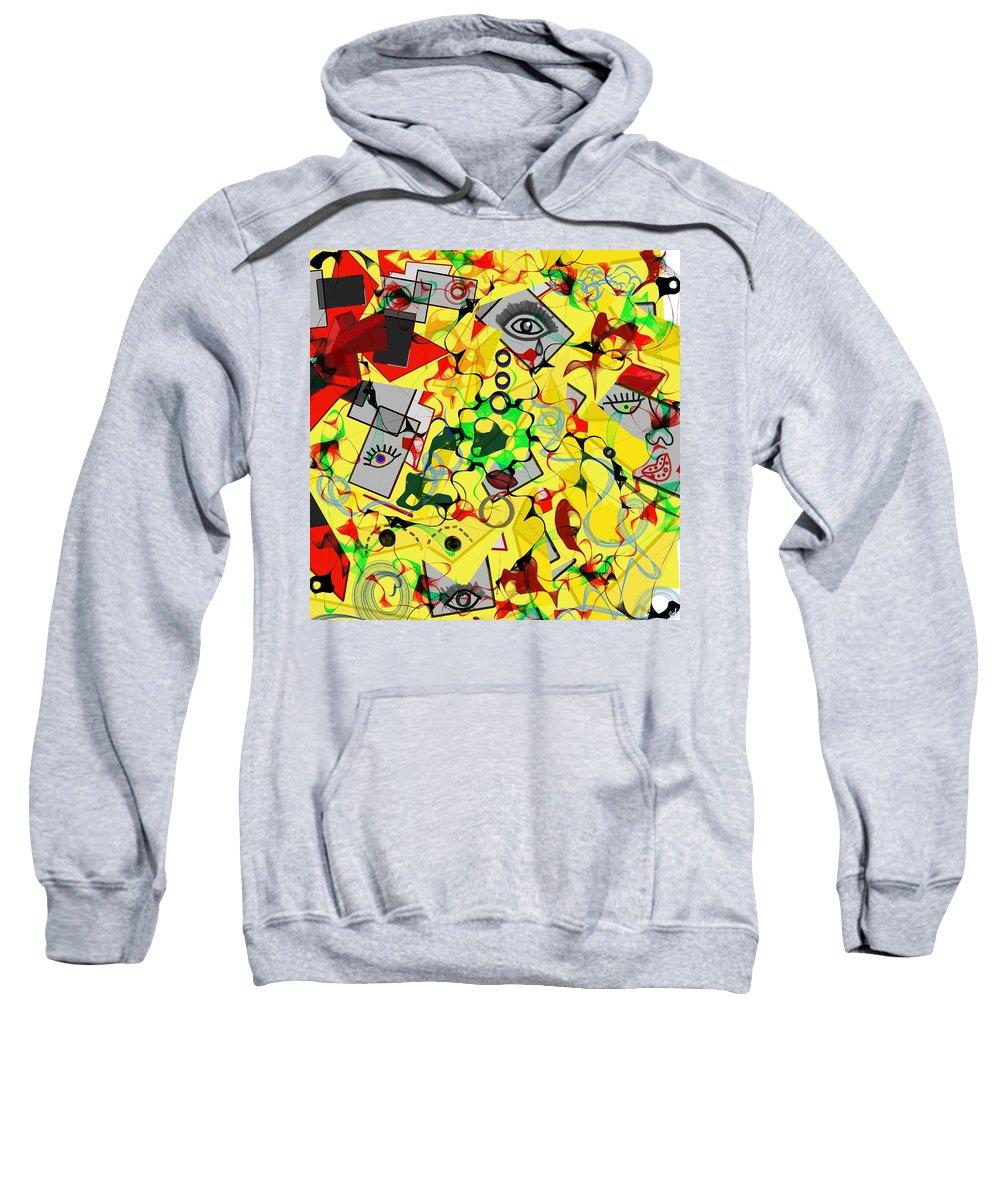 Sweatshirt featuring the digital art Instrospeccion by Yilmar Henry