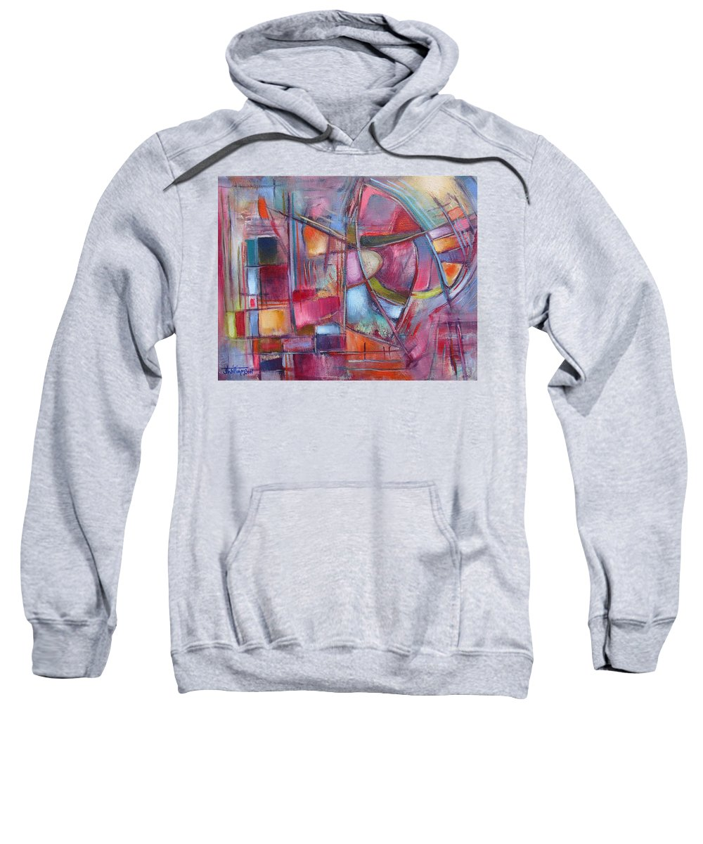 Oil On Canvas Sweatshirt featuring the painting Internal Dynamics # 8 by Jason Williamson