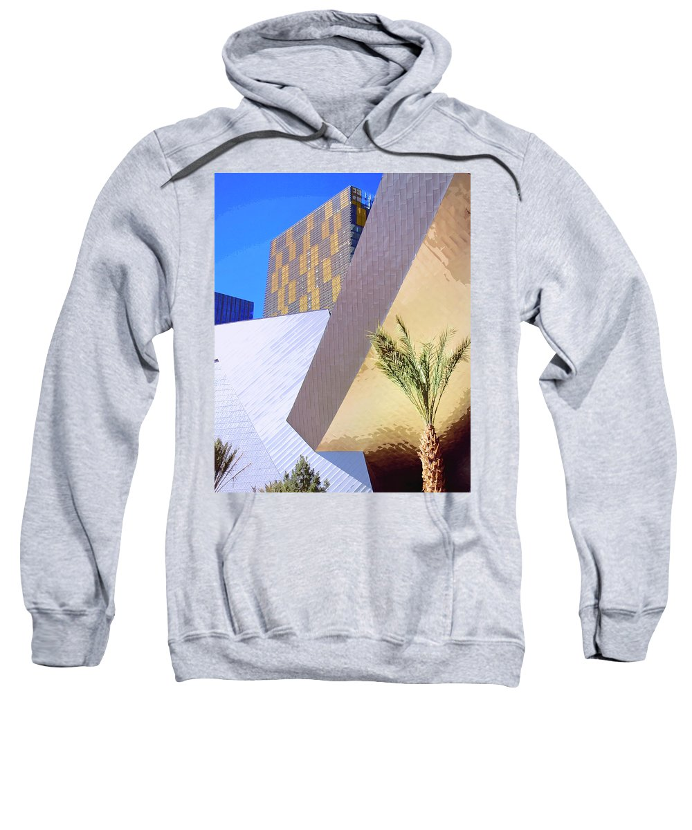 Intersection Sweatshirt featuring the photograph Intersection Number One Las Vegas by William Dey