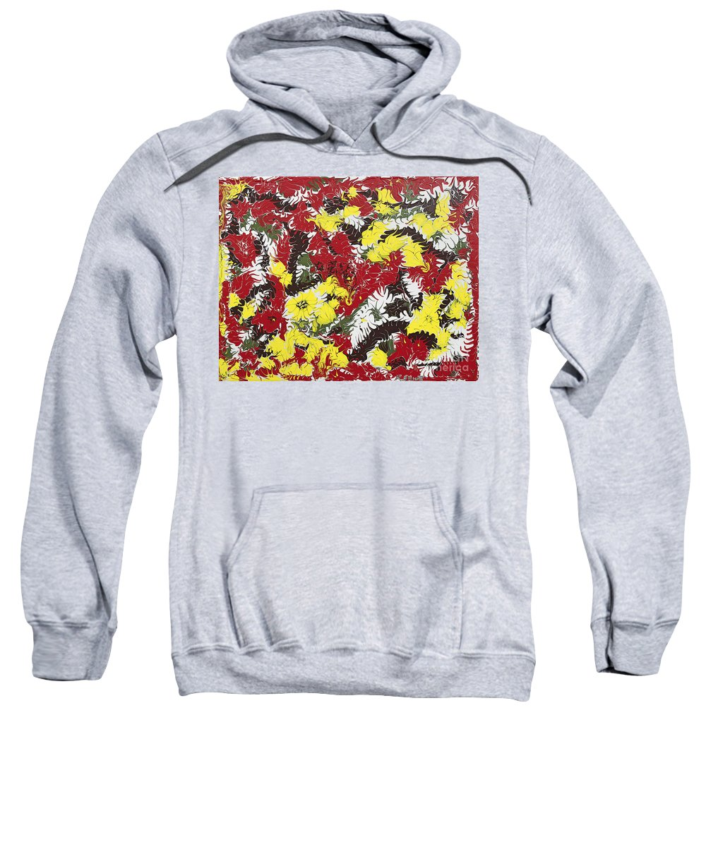 Keith Elliott Sweatshirt featuring the painting Intimidation Of Energy - V1db100 by Keith Elliott