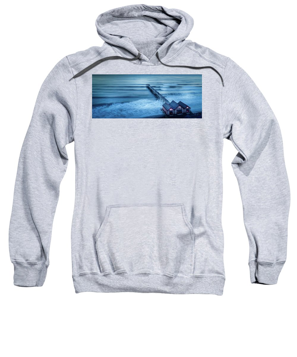 Yorkshire Sweatshirt featuring the photograph Into The Blue by Richard Sayer