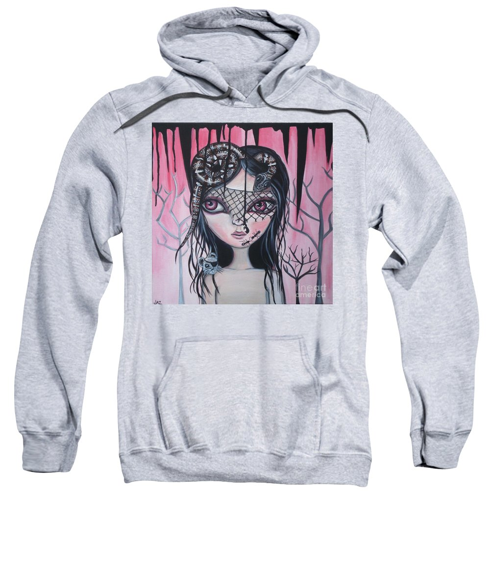 Art Sweatshirt featuring the painting Into The Darkness by Jaz Higgins