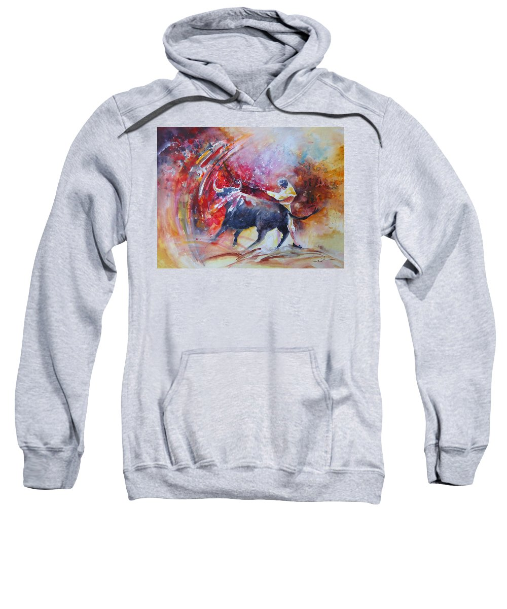 Animals Sweatshirt featuring the painting Into The Red by Miki De Goodaboom