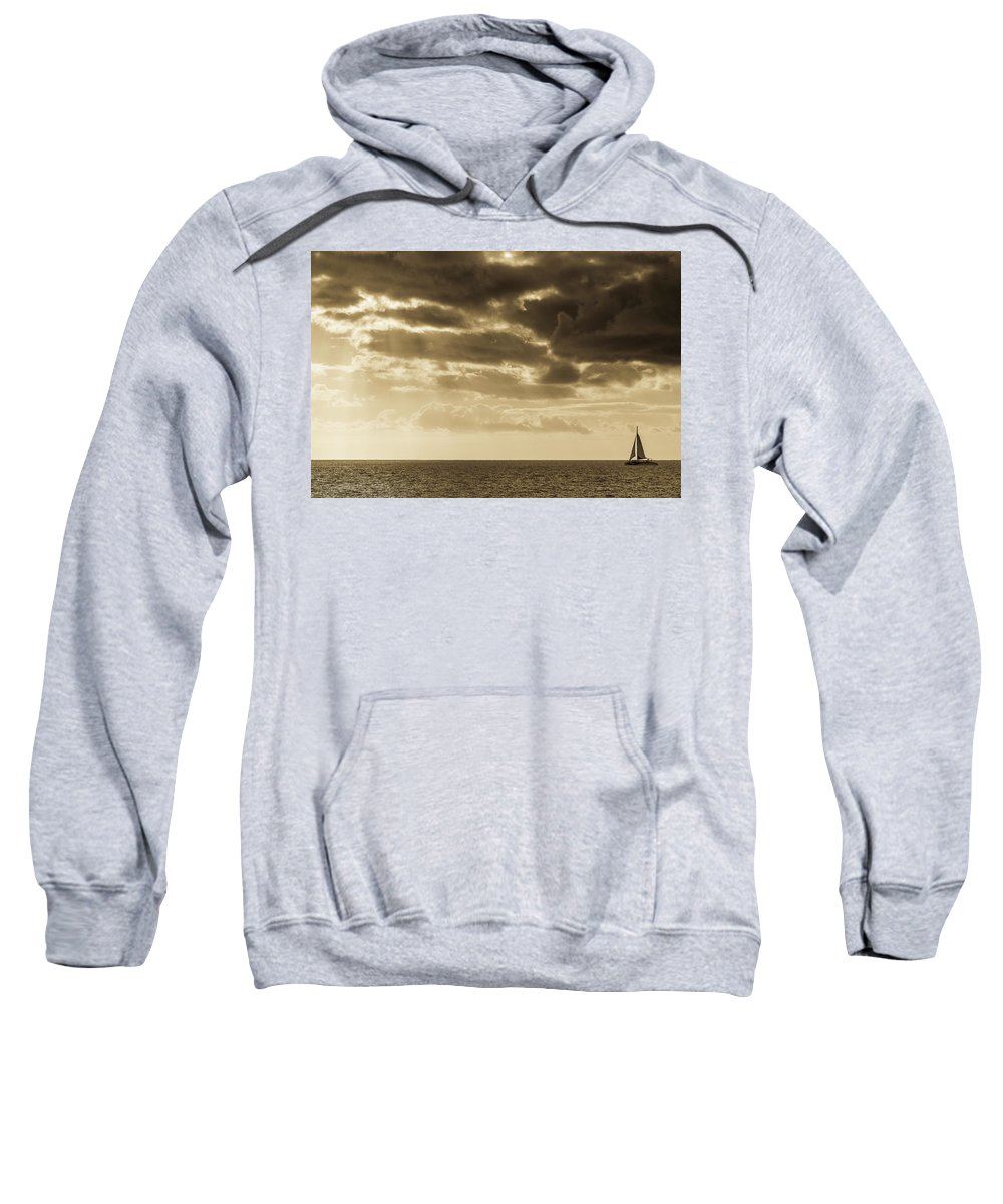 Sunset Sweatshirt featuring the photograph Into The Storm by Jeremy Rhoades