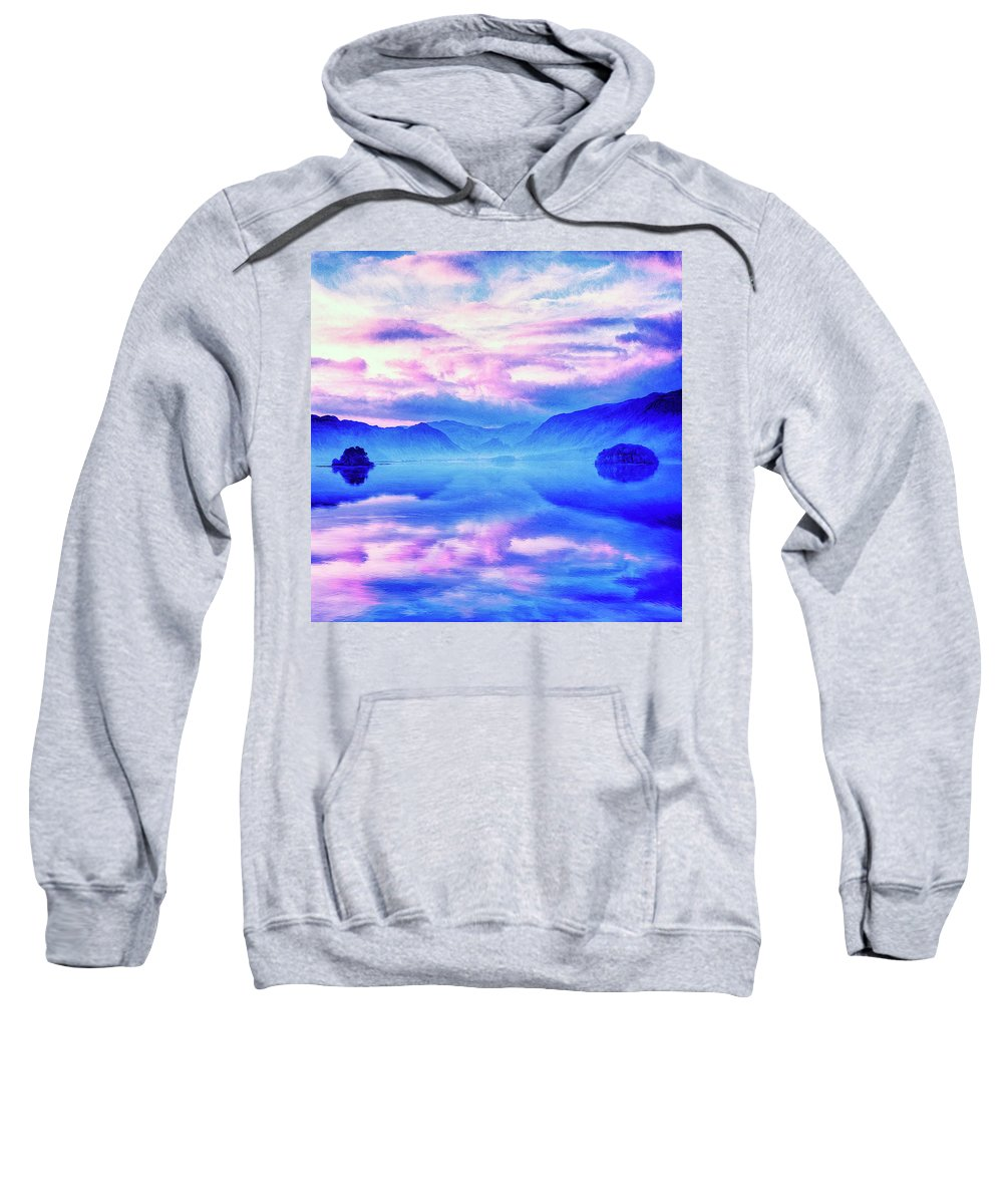 Into The Unknown Sweatshirt featuring the painting Into The Unknown by Dominic Piperata