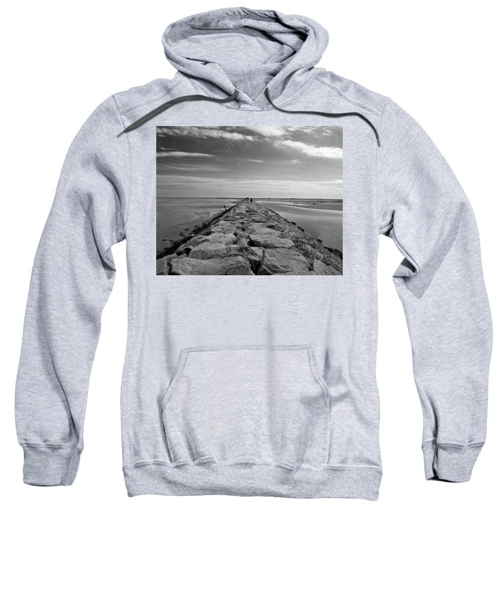 Cape Cod Sweatshirt featuring the photograph Into The Water by Conor McLaughlin