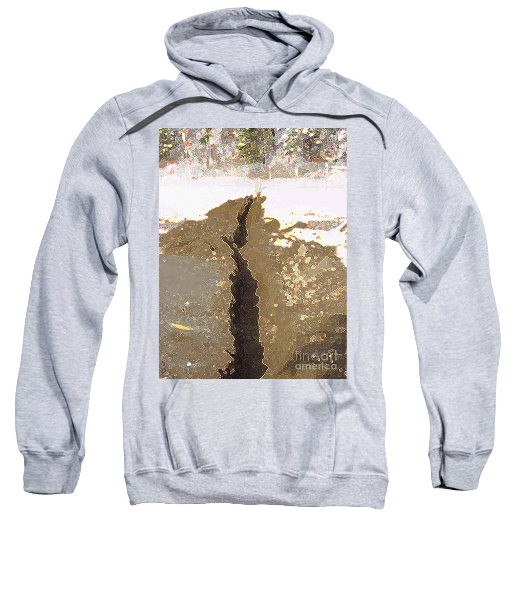 Abstract Sweatshirt featuring the digital art Intrusion by Ron Bissett
