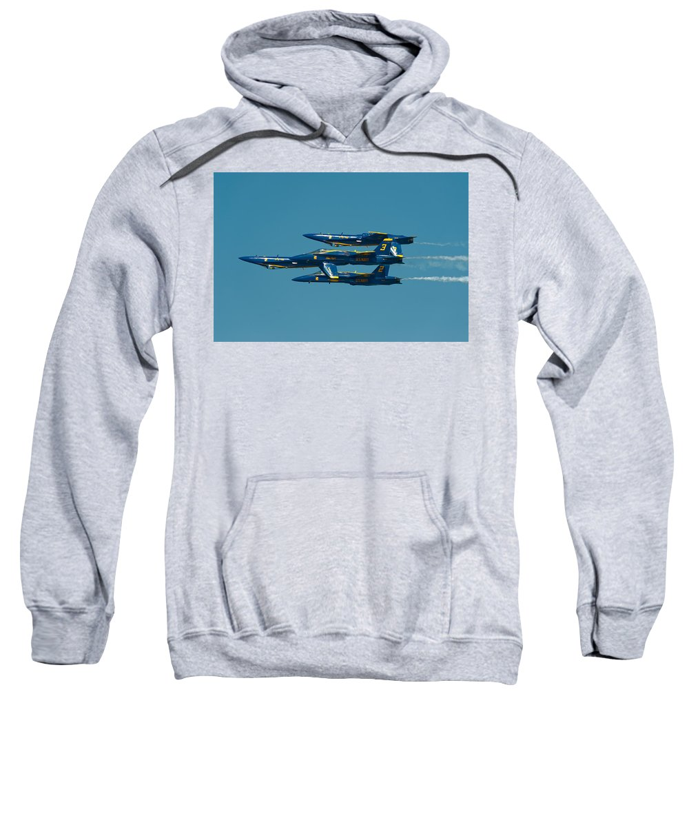 Us Navy Sweatshirt featuring the photograph Inverted by Sebastian Musial