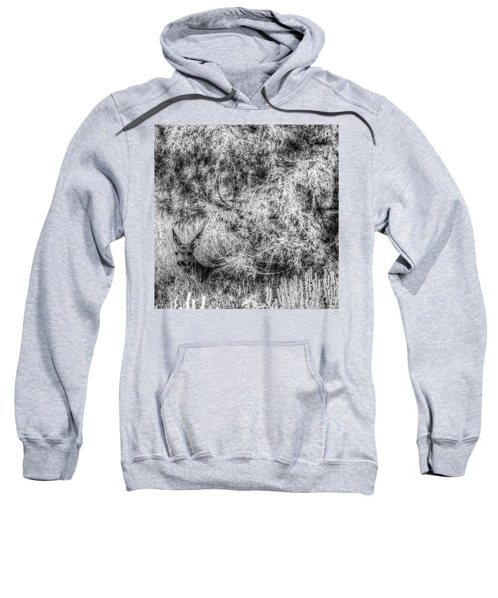 Nature Sweatshirt featuring the photograph Invisible Nature One Mono by John Burnie