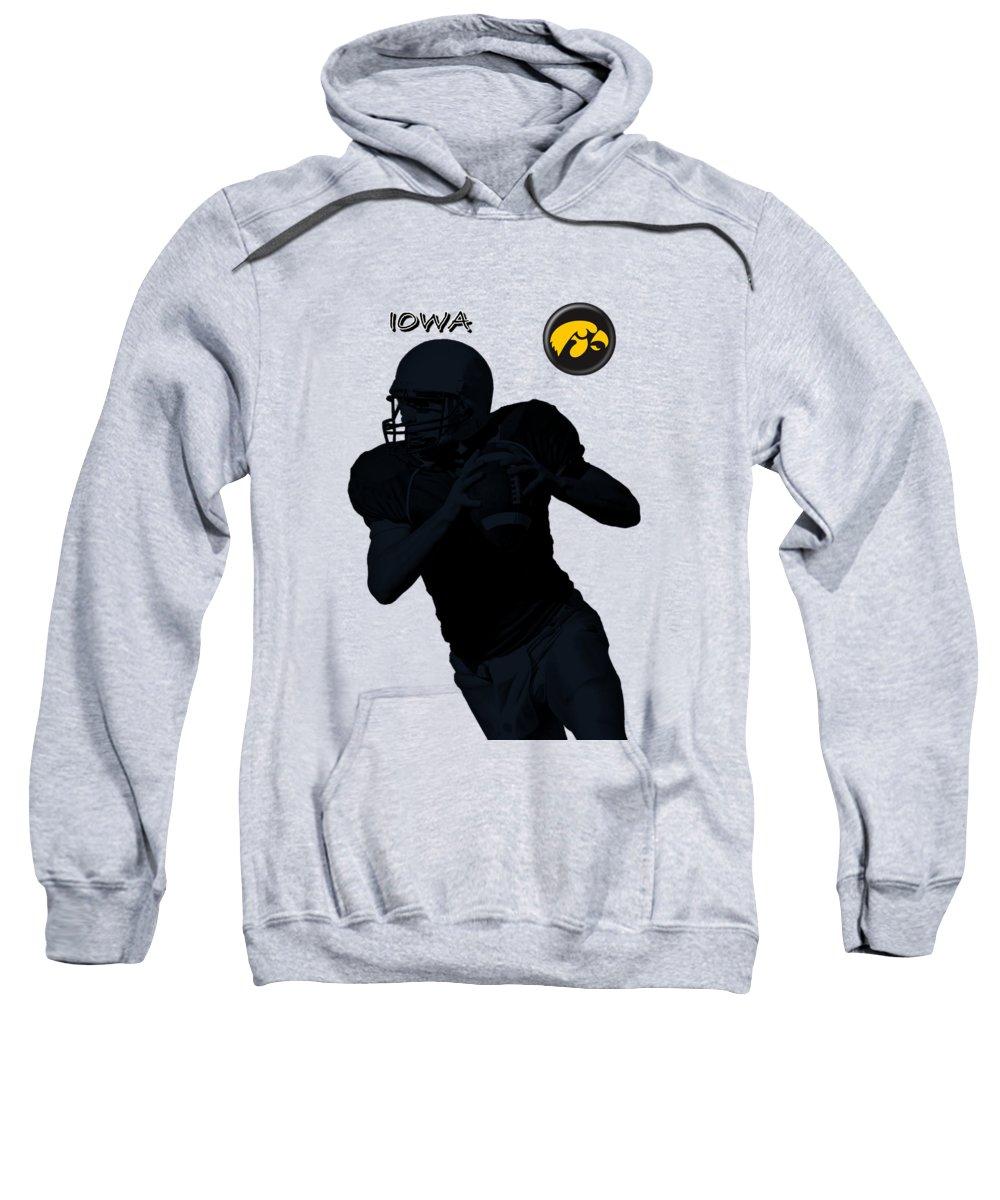 Football Sweatshirt featuring the digital art Iowa Football by David Dehner