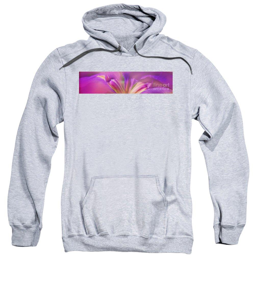 Iris Sweatshirt featuring the photograph Iris Panorama by Judi Bagwell