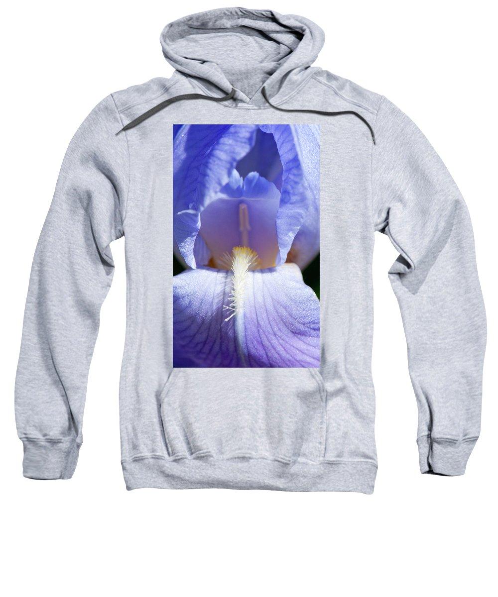 Iris Sweatshirt featuring the photograph Iris by Steven Natanson