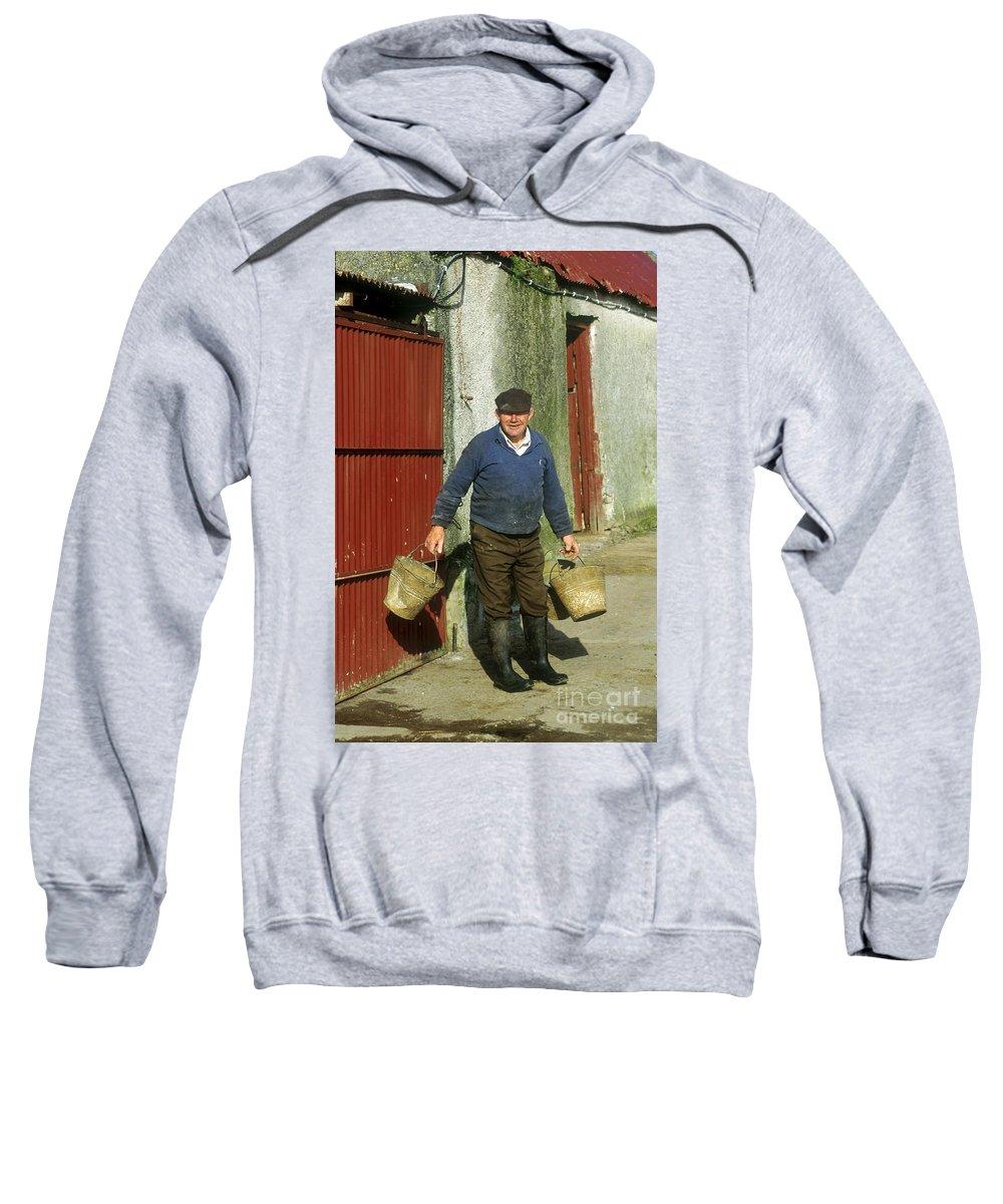 Farmer Sweatshirt featuring the photograph Irish Farmer by John Greim