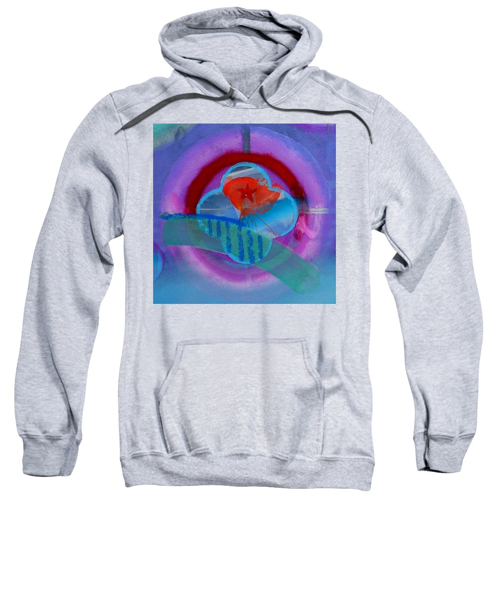 Logo Sweatshirt featuring the painting Iron Butterfly by Charles Stuart