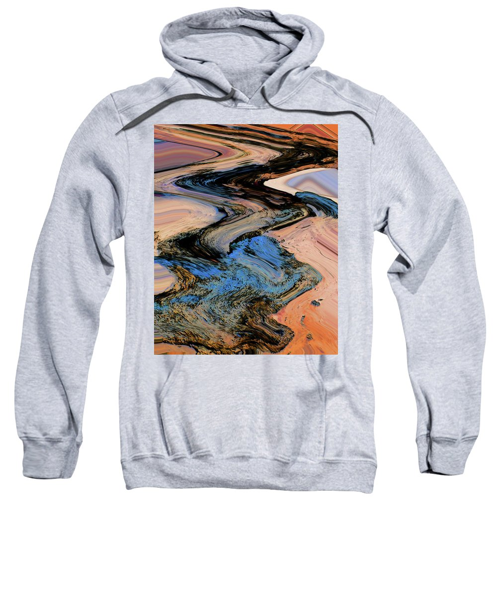 Abstract Sweatshirt featuring the digital art Irrigation by Lenore Senior