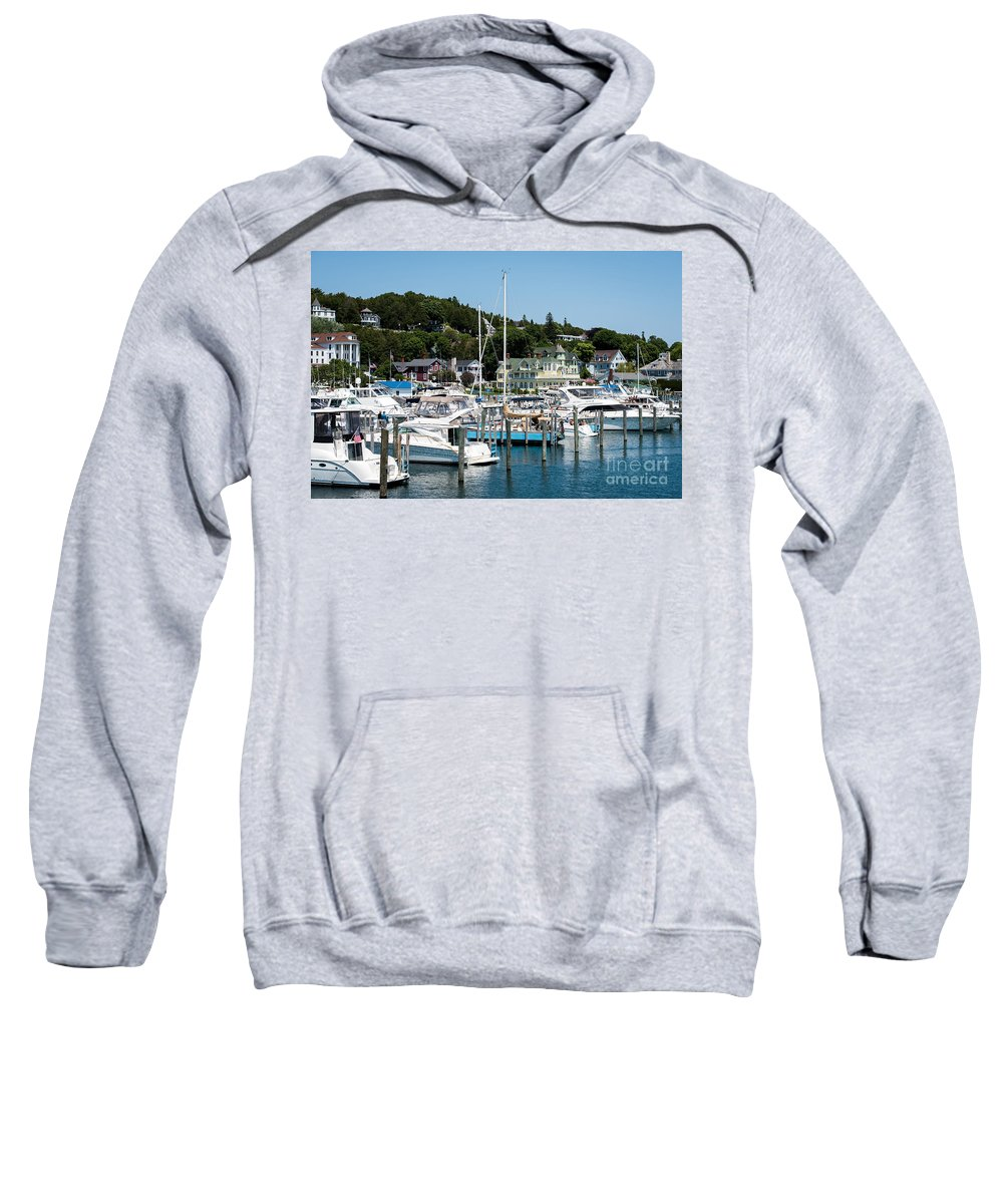 Boating Sweatshirt featuring the photograph Island Boating by Wesley Farnsworth