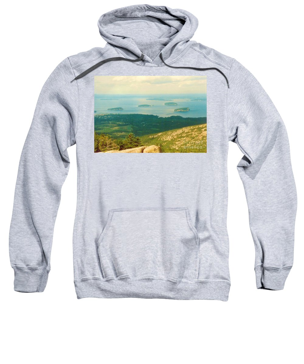 Acadia Sweatshirt featuring the photograph Island Hopping by Desiree Paquette