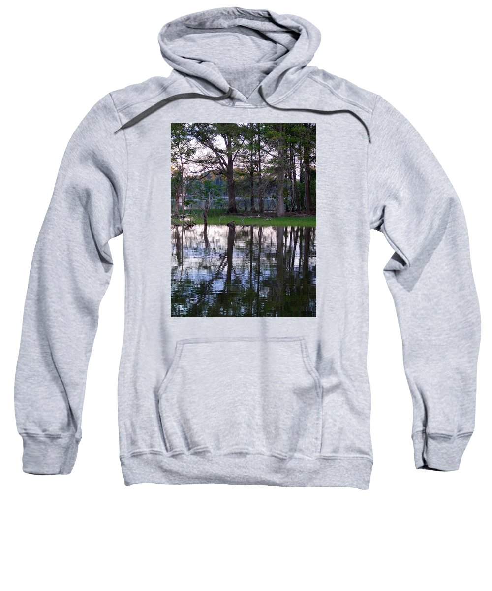 Scenic Tours Sweatshirt featuring the photograph Island Reflections by Skip Willits