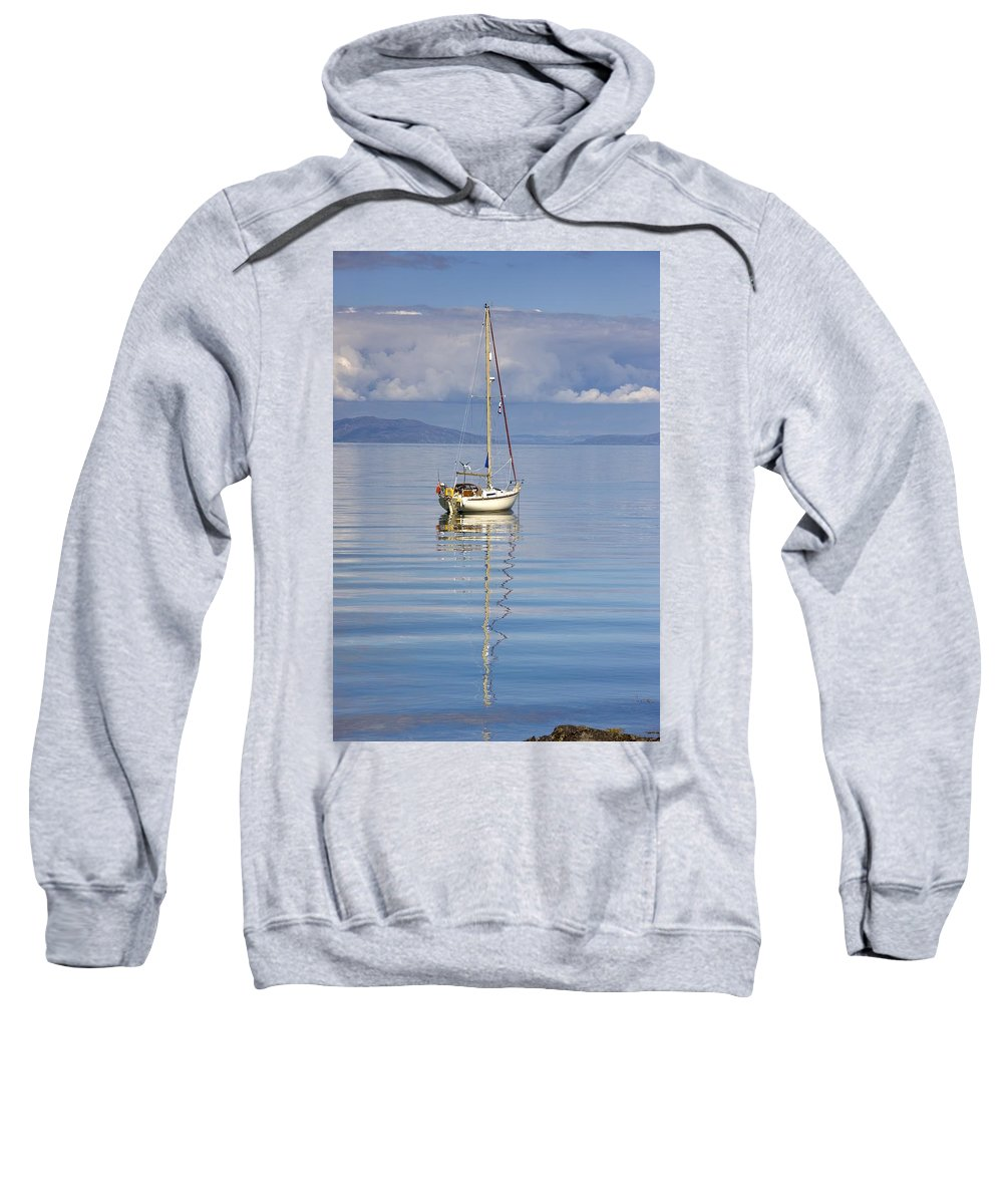 Boat Sweatshirt featuring the photograph Isle Of Colonsay, Scotland Sailboat On by John Short