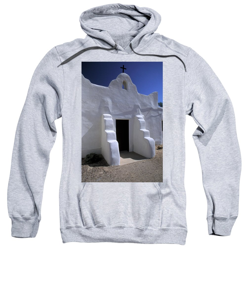 Adobe Sweatshirt featuring the photograph Isleta by Jerry McElroy