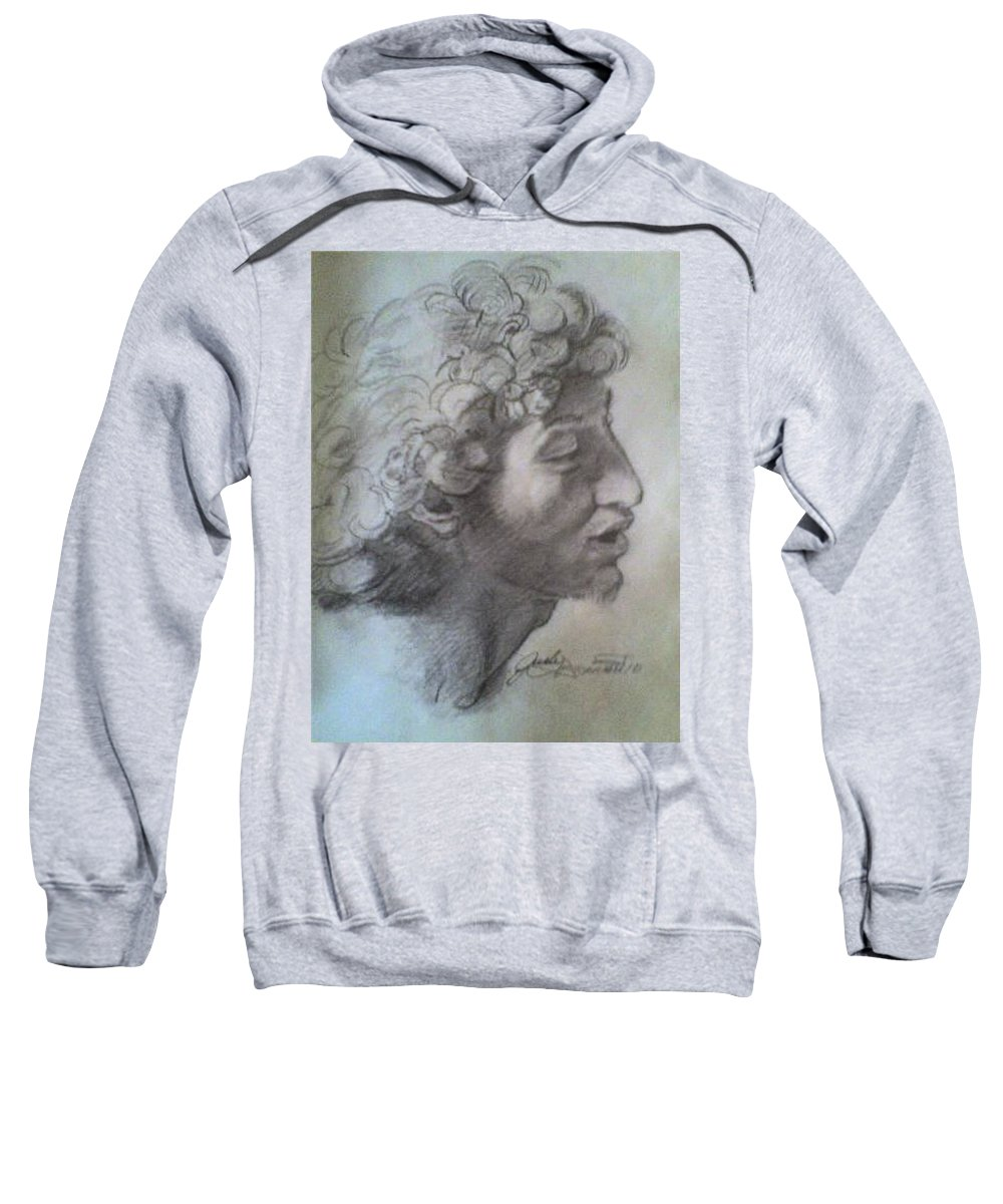 Sweatshirt featuring the painting Italian Boy by Jude Darrien